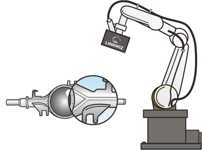 アーク溶接検査ロボットによるトレーサビリティ設備