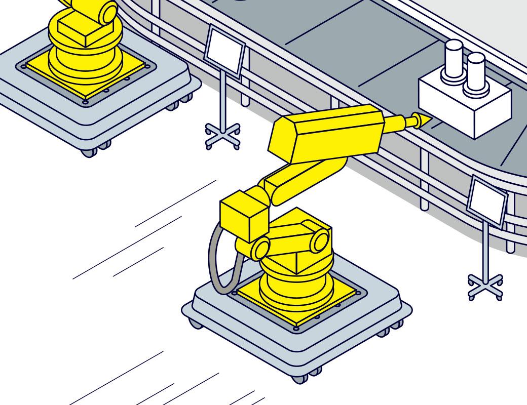ロボットのフレキシブルな配置